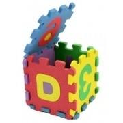 Quebra Cabeça Em EVA Letras E Números Alfabeto 12cm x 12cm Brinquedo Educativo 36 Peças 814569