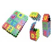 Quebra Cabeça Em EVA Letras E Números Alfabeto Brinquedo Educativo 36 Peças BA17696