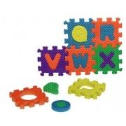Quebra Cabeça Em EVA Letras E Números Alfabeto Brinquedo Educativo 36 Peças BA17697