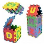 Quebra Cabeça Em EVA Letras E Números Alfabeto Brinquedo Educativo 36 Peças BA17698