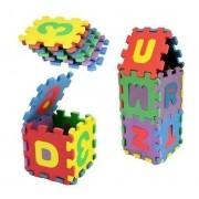 Quebra Cabeça Em EVA Letras E Números Alfabeto Brinquedo Educativo 36 Peças BA17699