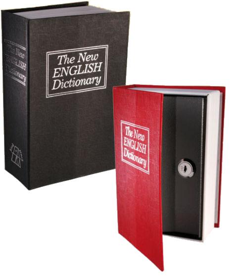 Cofre Camuflado em Formato de Livro Dicion�rio com Chave M�dio  - MGCOMPUTERS