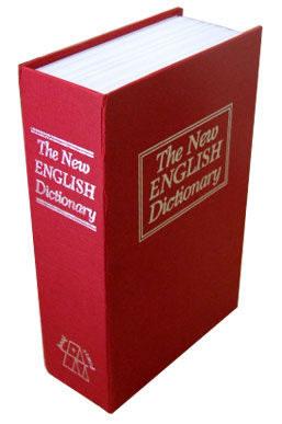 Cofre Camuflado em Formato de Livro Dicionário com Chave Médio  - MGCOMPUTERS