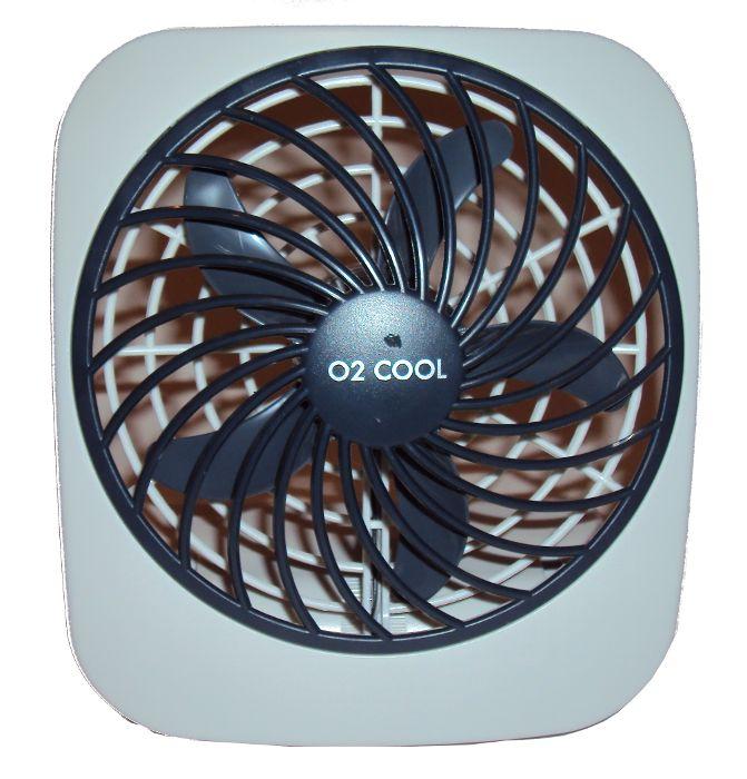 Ventilador Portátil de Mesa O2 Cool Usa Pilhas ou Fonte 3V 2283  - MGCOMPUTERS