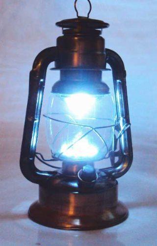 Luminária Modelo Lampião Antigo Cor Cobre Com 17 Leds 30cm 5603  - MGCOMPUTERS