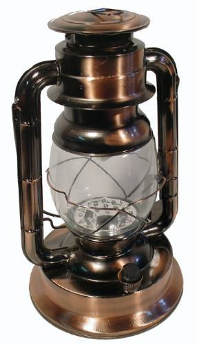 Lumin�ria Modelo Lampi�o Antigo Cor Cobre Com 21 Leds 35cm 5609  - MGCOMPUTERS