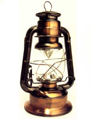 Luminária Modelo Lampião Antigo Cor Cobre Com 21 Leds 35cm 5609  - MGCOMPUTERS