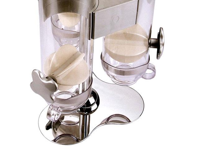 Dispenser Triplo Para Cereais Com Dosador Em Vidro Dynasty Full Fit 13669  - MGCOMPUTERS