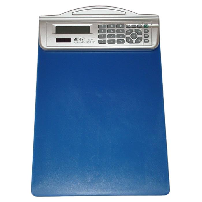 Prancheta com Calculadora 8 Dígitos e Régua Yins YI17034  - MGCOMPUTERS