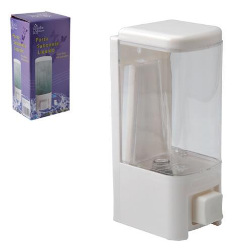 Saboneteira Porta Sabonete Líquido de Parede Em Acrílico Transparente Art House ZJ027  - MGCOMPUTERS