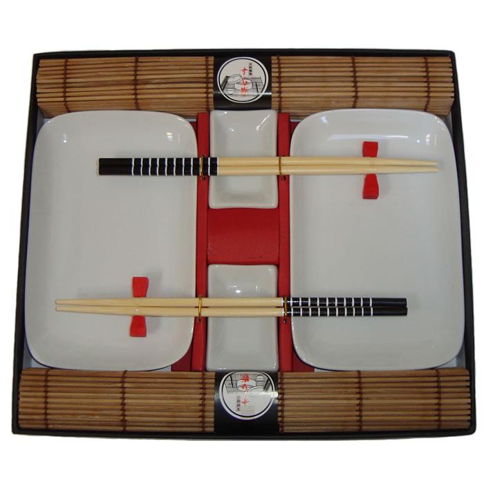 Conjunto Para Sushi em Porcelana Kit Com 10 Peças Wincy BC01013  - MGCOMPUTERS