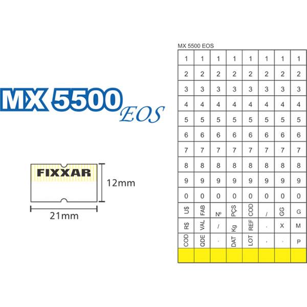 Etiquetadora de Preços Fixxar MX5500 EOS 1 Linha de Impressão 8 Dígitos  - MGCOMPUTERS