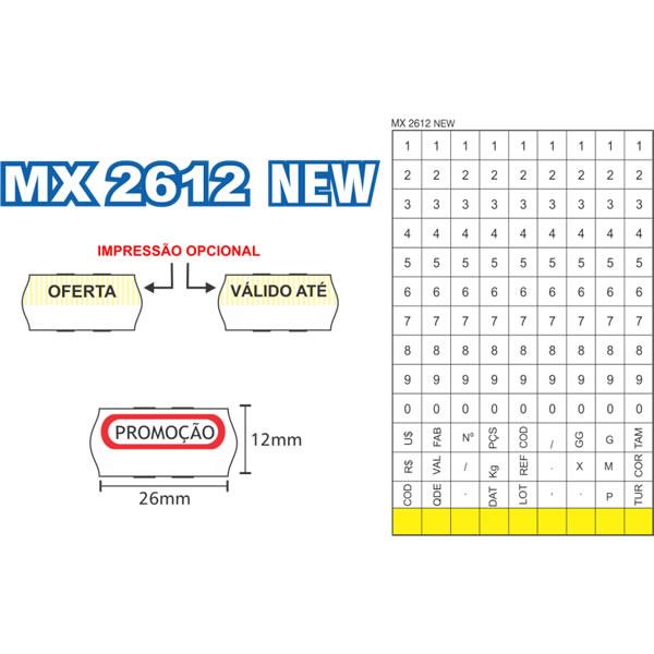 Etiquetadora de Preços Fixxar MX2612 NEW 1 Linha de Impressão 9 Dígitos  - MGCOMPUTERS
