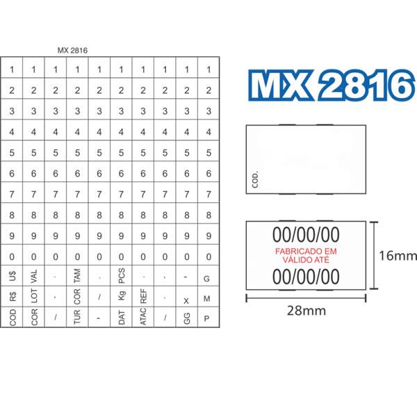 Etiquetadora de Preços Fixxar MX2816 2 Linhas de Impressão 10 Dígitos  - MGCOMPUTERS