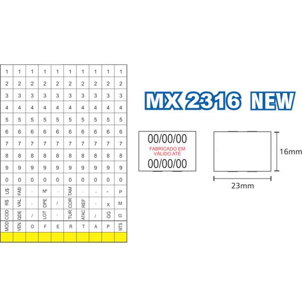 Etiquetadora de Preços Fixxar MX2316 NEW 2 Linhas de Impressão 10 Dígitos  - MGCOMPUTERS
