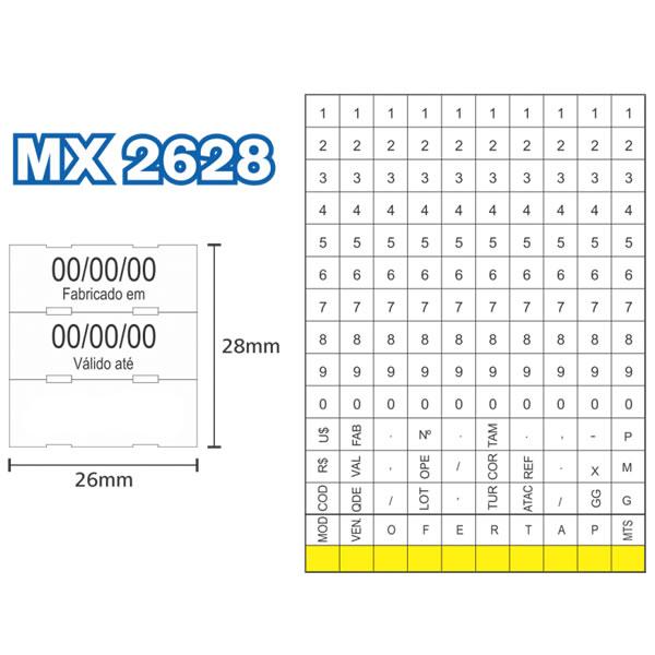 Etiquetadora de Preços Fixxar MX2628 3 Linhas de Impressão 10 Dígitos  - MGCOMPUTERS