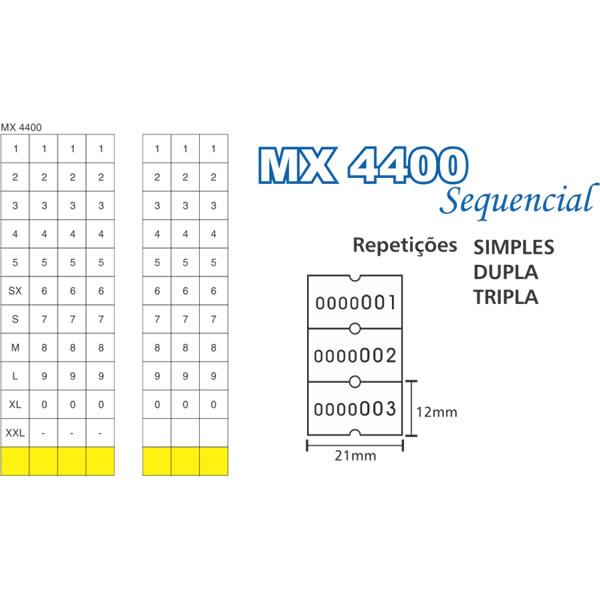 Etiquetadora Sequencial Fixxar MX4400 1 Linha de Impress�o 7 D�gitos  - MGCOMPUTERS