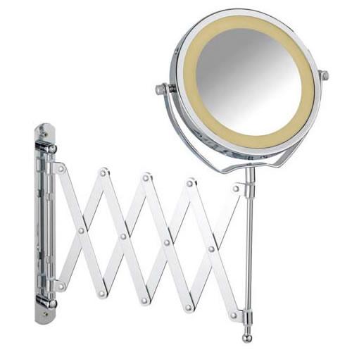 Espelho Articulado Sanfonado Com Aumento de 3X e Iluminação Com Led Para Banheiro Wenko WE3656380100  - MGCOMPUTERS