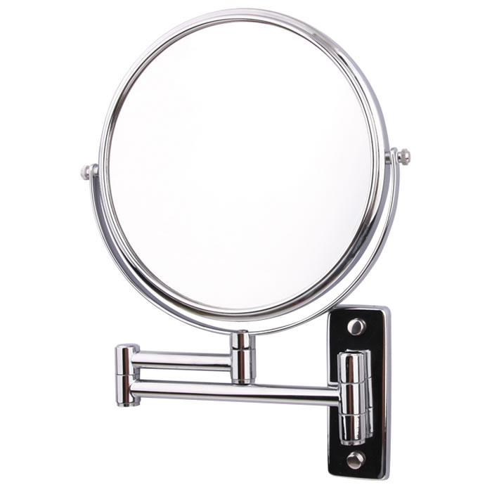 Espelho de Parede Duplo Com Aumento de 5X e Braço Móvel Articulado Para Banheiro Fashion Beauty JM311  - MGCOMPUTERS