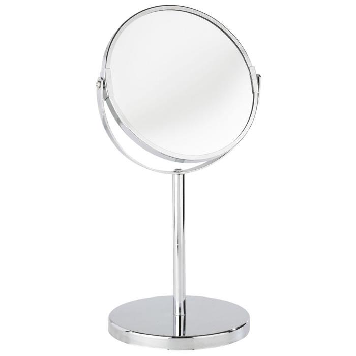 Espelho de Bancada Cromado Duplo Com Aumento de 3X Ideal Para Maquiagem Wenko WE16892100A  - MGCOMPUTERS