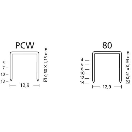 Grampeador Pneumático de Tapeceiro Para Grampos 80 e PCW Rocama 80W  - MGCOMPUTERS