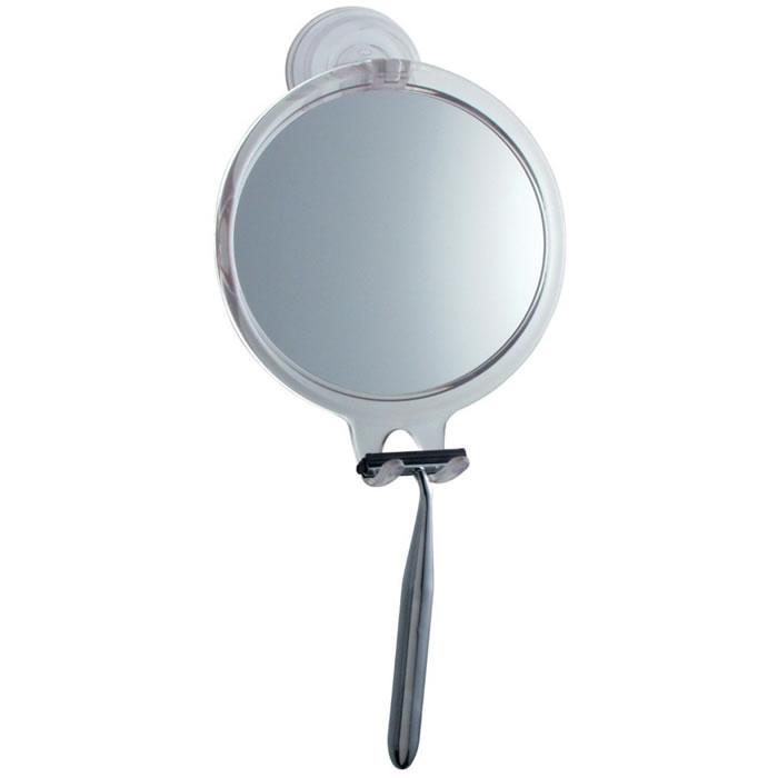 Espelho Para Box de Banheiro Anti Embaçante Com Ventosa Redondo Inter Design ID-521-20  - MGCOMPUTERS