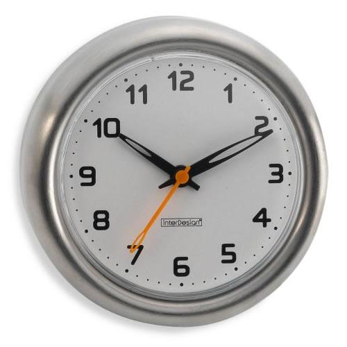 Relógio em Aço Inox Para Box de Banheiro Resistente À Água Com Ventosas Inter Design ID-435-80  - MGCOMPUTERS