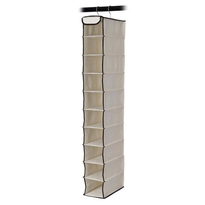 Organizador Suspenso Com 10 Prateleiras Em Poliéster Para Closet e Guarda Roupas Espaço Home 12116  - MGCOMPUTERS