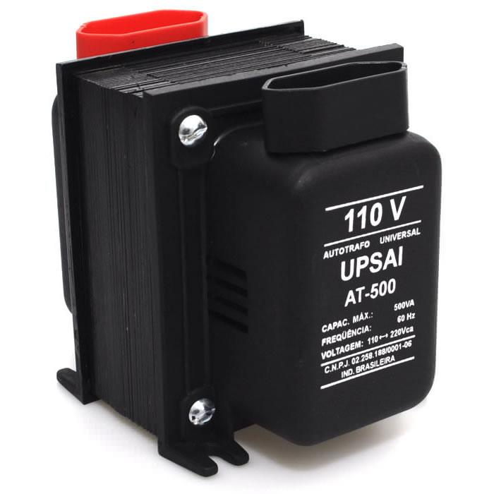 Autotransformador Transformador de Voltagem Bivolt 110V Para 220V e 220V Para 110V 500VA Upsai AT500T  - MGCOMPUTERS