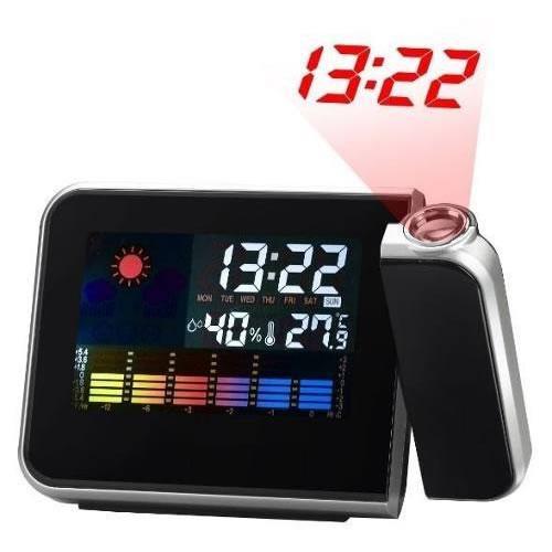 Relógio de Mesa Digital Com Projetor de Horas Despertador Temperatura E Umidade do Ar 8190  - MGCOMPUTERS