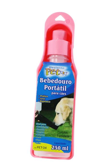 Bebedouro Portátil Para Cães e Gatos 250ml Western PET34  - MGCOMPUTERS