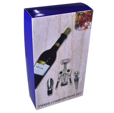 Conjunto Para Vinho Kit Com Saca Rolhas Aerador e Rolha 4293 SX319  - MGCOMPUTERS