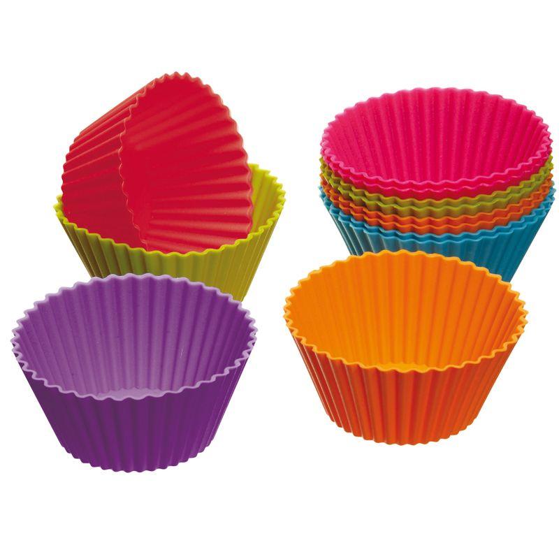 Kit De Formas De Silicone Para Cupcake Redonda Com 12 Formas 6cm Art House ZP442  - MGCOMPUTERS