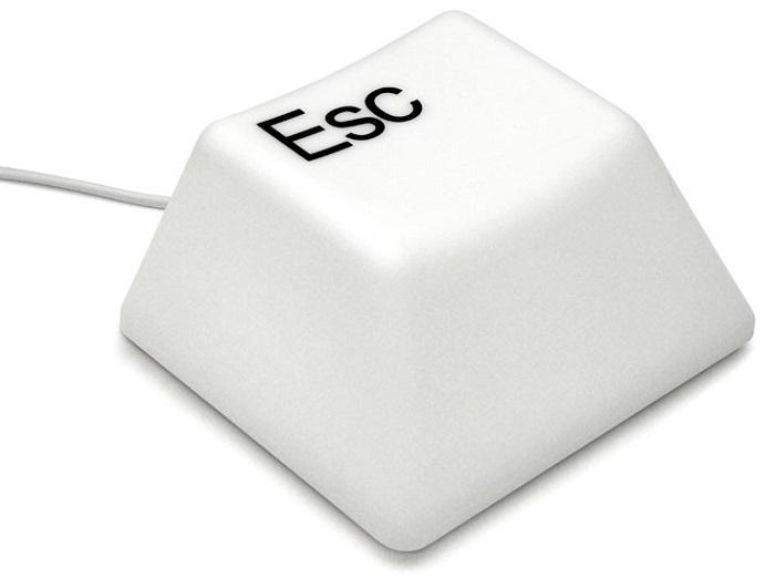 Lumin�ria Decorativa Em Forma De Tecla De Computador Esc Alimenta��o USB Ou Pilha Para Mesa E Parede