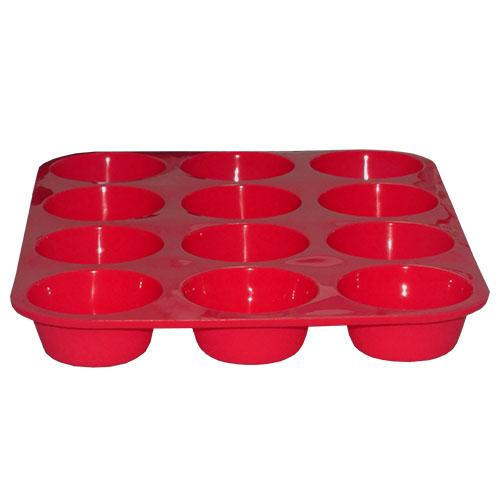 Forma De Silicone Para Cupcake Com 12 Cavidades Redondas Kehome 5707  - MGCOMPUTERS