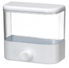 Saboneteira Porta Sabonete Líquido de Parede Em Acrílico Transparente 900ml Fiorella 6105  - MGCOMPUTERS
