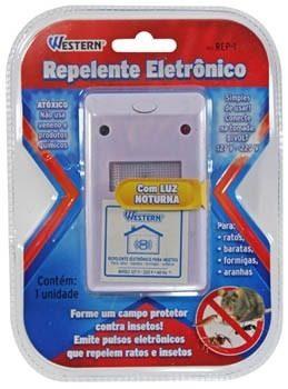 Repelente Eletrônico Para Ratos Baratas Formigas e Aranhas Bivolt Western REP-1  - MGCOMPUTERS