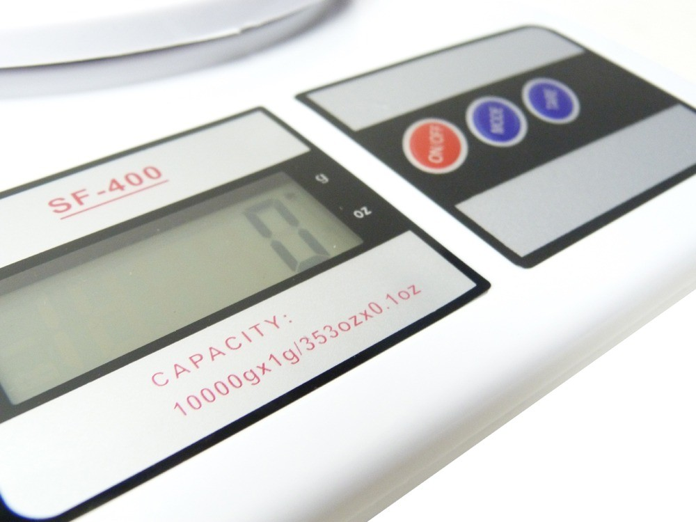 Balança De Cozinha Digital Com Capacidade De 10kg Divisão De 1g SF400  - MGCOMPUTERS