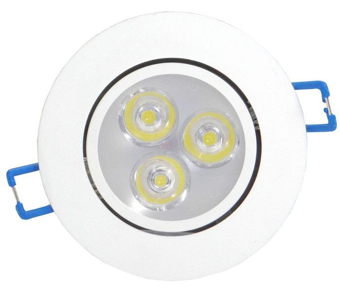 Spot Branco De Led 3W Branco Morno Direcionável Para Embutir Bivolt  - MGCOMPUTERS