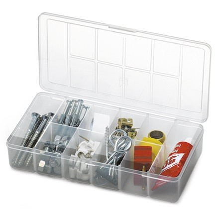Caixa Organizadora Plástica Com Tampa 10 Divisões Nitron 019  - MGCOMPUTERS
