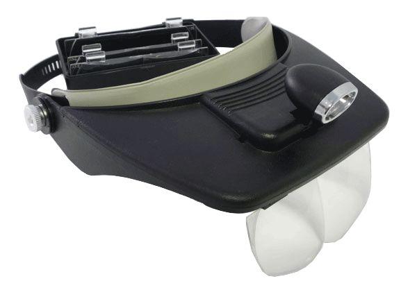 Lupa de Cabeça Pala Com 4 Lentes E Iluminação Direcional Com 2 Leds Luz MG81001  - MGCOMPUTERS