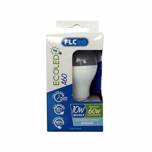 Kit 5 Lâmpadas Led Ecoled A60 10w Luz Branca Intensa 6400k Bivolt FLC  - MGCOMPUTERS