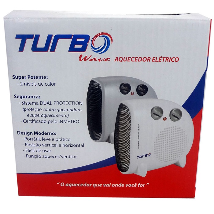 Aquecedor De Ar Elétrico Termoventilador 1500W Turbo Wave CRFH-2002 Cinza 127V  - MGCOMPUTERS