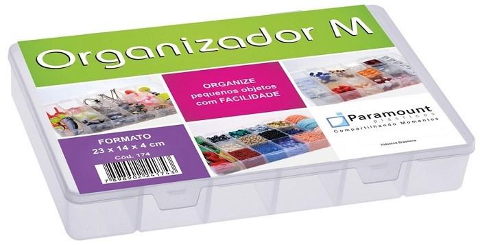 Kit Com 10 Caixas Organizadoras Plásticas Com Tampa 14 Divisões Média Paramount 174  - MGCOMPUTERS