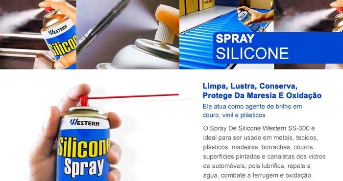 Silicone Spray Multiuso Para Carro E Náutica 300ml 150g Western SS300  - MGCOMPUTERS