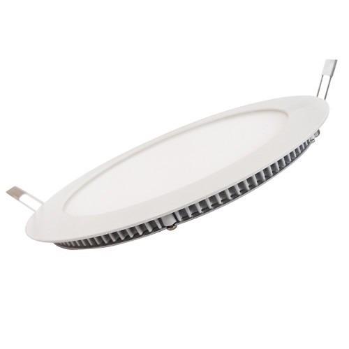 Kit 5 Luminárias de Led Redondas Brancas Para Embutir 18W 22cm Led Branco Frio Bivolt MBD18WY  - MGCOMPUTERS