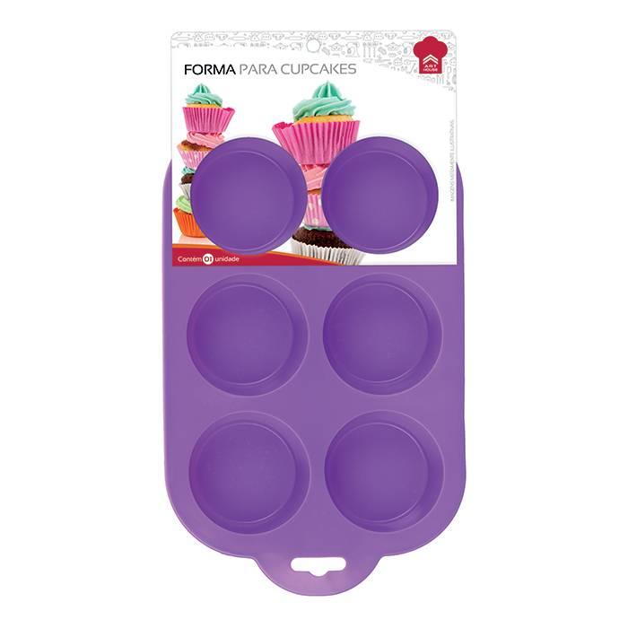 Forma De Silicone Para Cupcake Com 6 Cavidades Redondas Art House ZF1800  - MGCOMPUTERS
