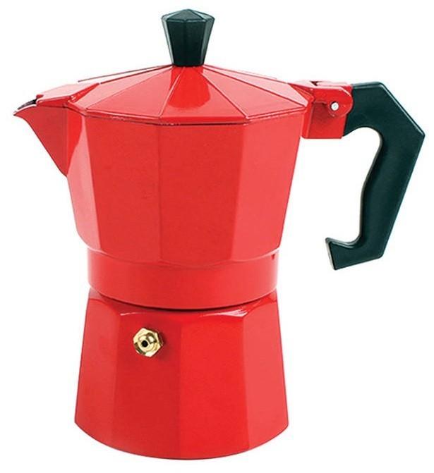 Cafeteira Tipo Italiana Vermelha Em Alumínio Para 6 Xícaras De Café Art House ZF2216  - MGCOMPUTERS