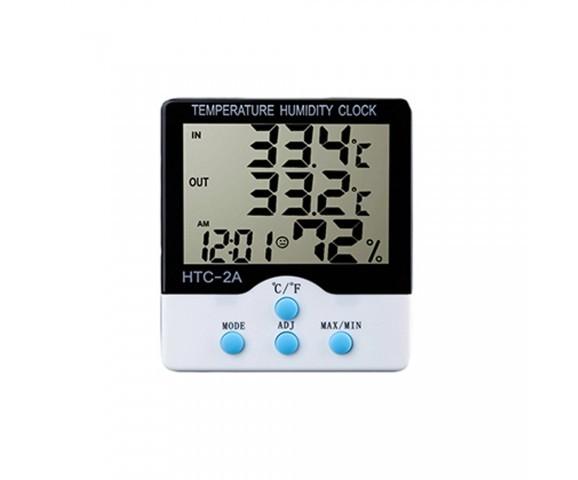 Termômetro E Higrômetro Digital Com Máxima E Mínima Interna E Externa HTC-2A  - MGCOMPUTERS