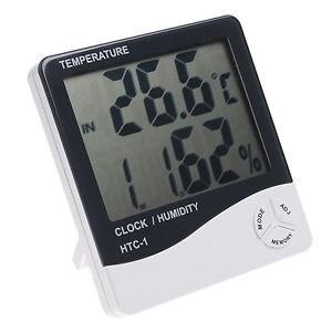 Termo-higrômetro Digital Termômetro E Higrômetro De Máxima E Mínima Com Relógio HTC1  - MGCOMPUTERS